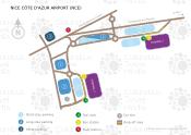 Nizza Cote d'Azur Flughafen map