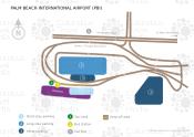 Palm Beach International Airport map