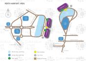 Perth Airport map