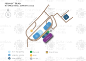 Piedmont Triad International Airport map