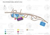 Pisa International Airport Galileo Galilei map
