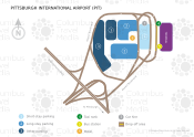 Pittsburgh International Airport map