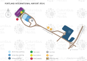 Portland International Airport map