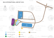 Riga International Airport map