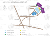 San Antonio International Airport map