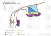 São Paulo-Guarulhos International Airport map