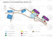 Lambert-St Louis International Airport map