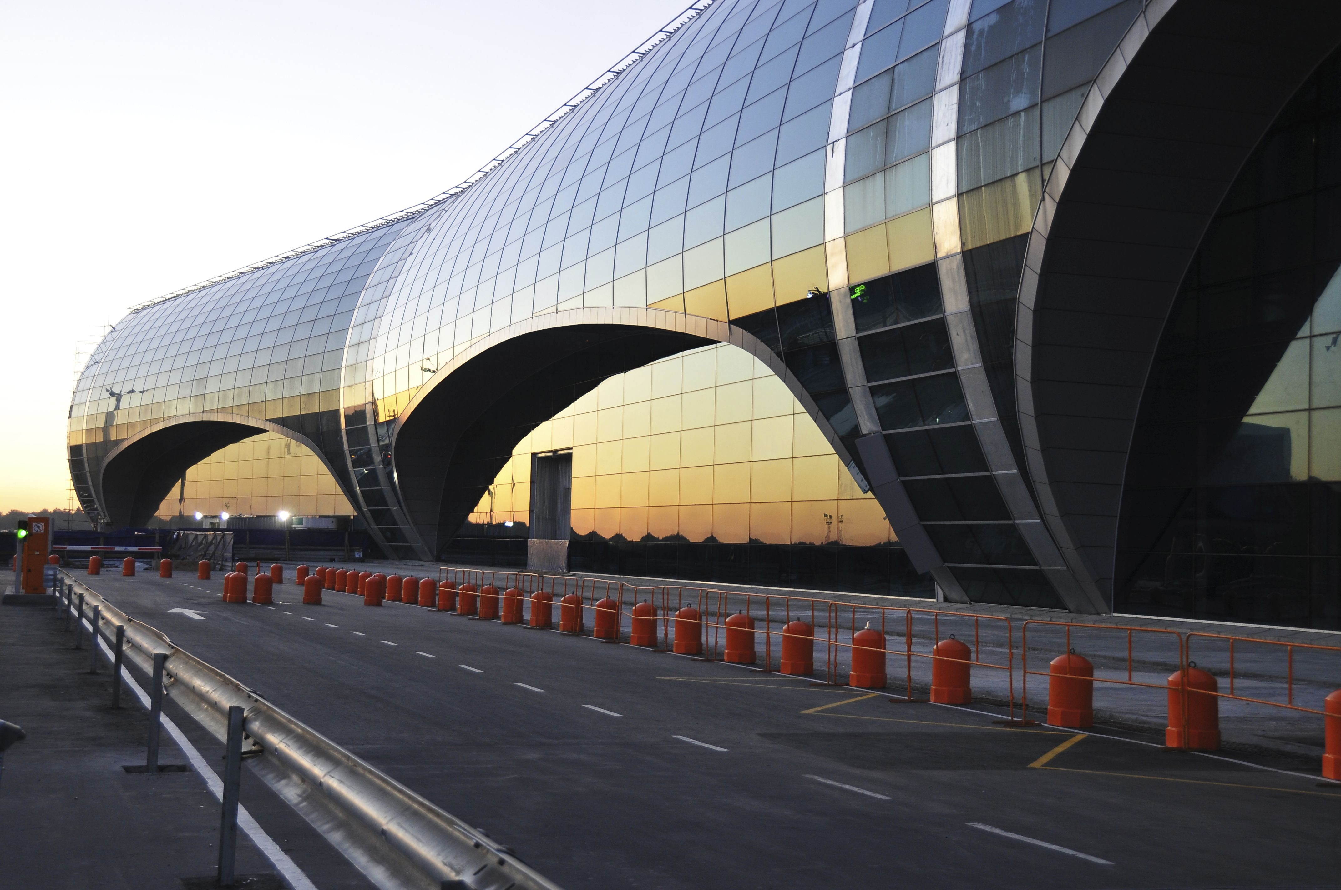 Sundown over Moscow Domodedovo International