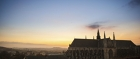 Sunset over Mons, the European Capital of Culture 2015