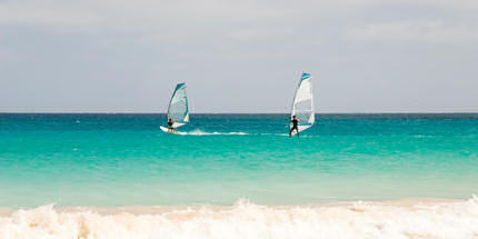 Windsurfing is a breeze on the island of Sal, Cape Verde