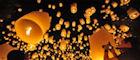 Releasing paper lanterns in Chiang Mai