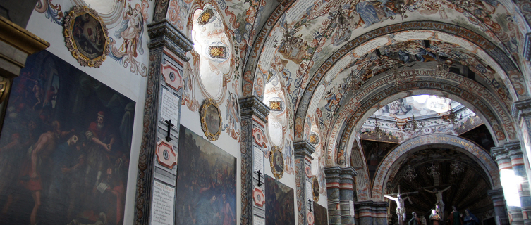 The ceiling of the Atotonilco draws comparisons with the Sistine Chapel