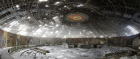 The main room in Buzludzha reeks of opulence left to rot