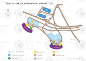 Toronto Pearson International Airport map