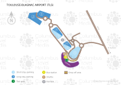 Toulouse-Blagnac Airport map
