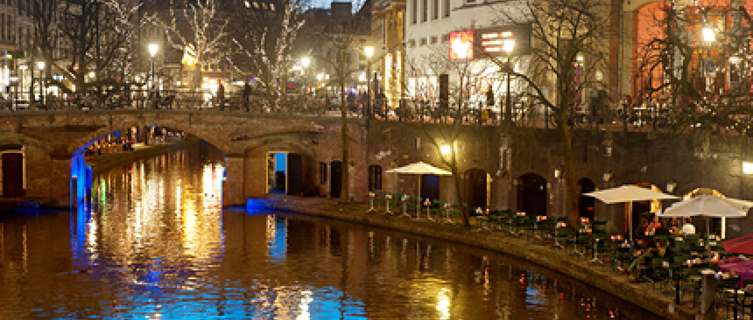 Utrecht's canals, recently voted the most beautiful in Europe