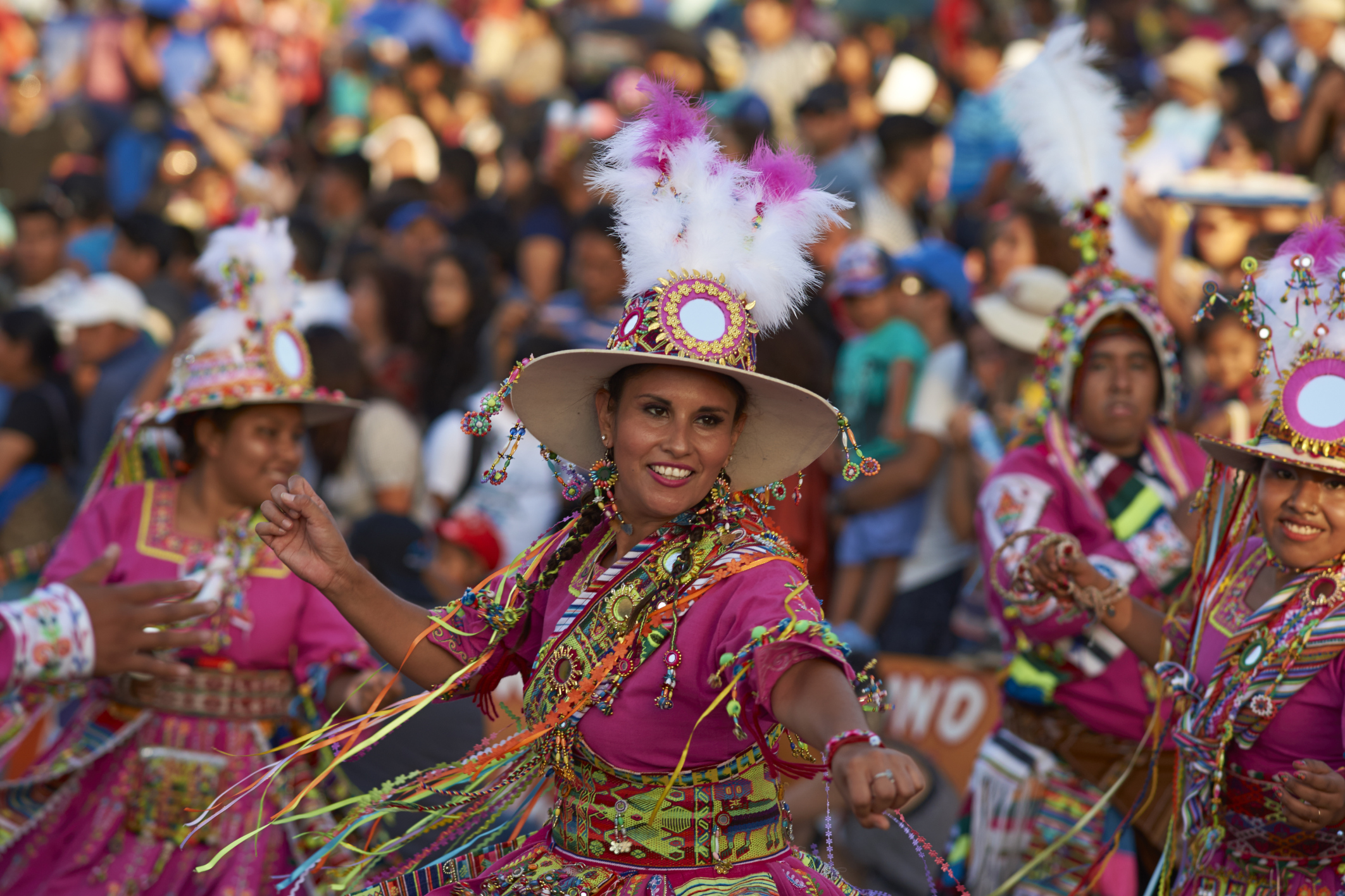 Watch a traditional Tinku dance group in Bolivia