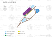 Zagreb Airport map