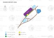 Franjo Tuđman Zagreb Flughafen map