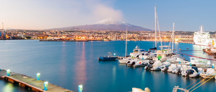 The ancient port city of Catania