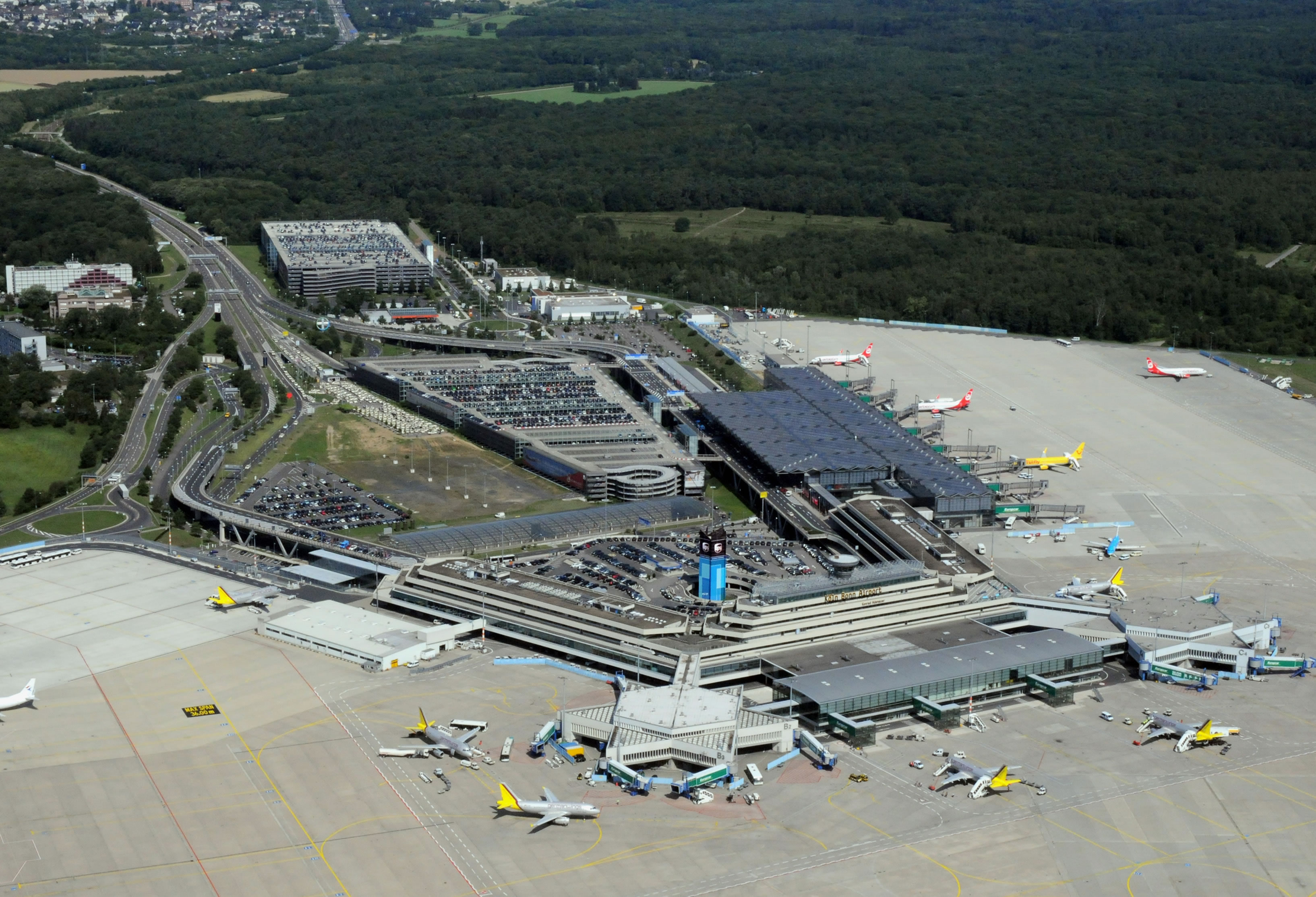 Cologne Bonn Airport from above