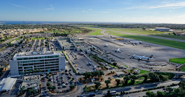 Malta International Airport from above