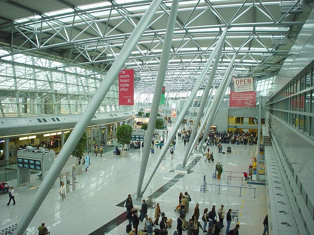 Inside the terminal building