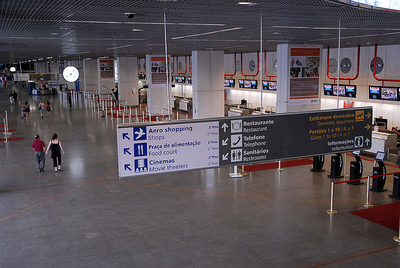 Within the check-in area