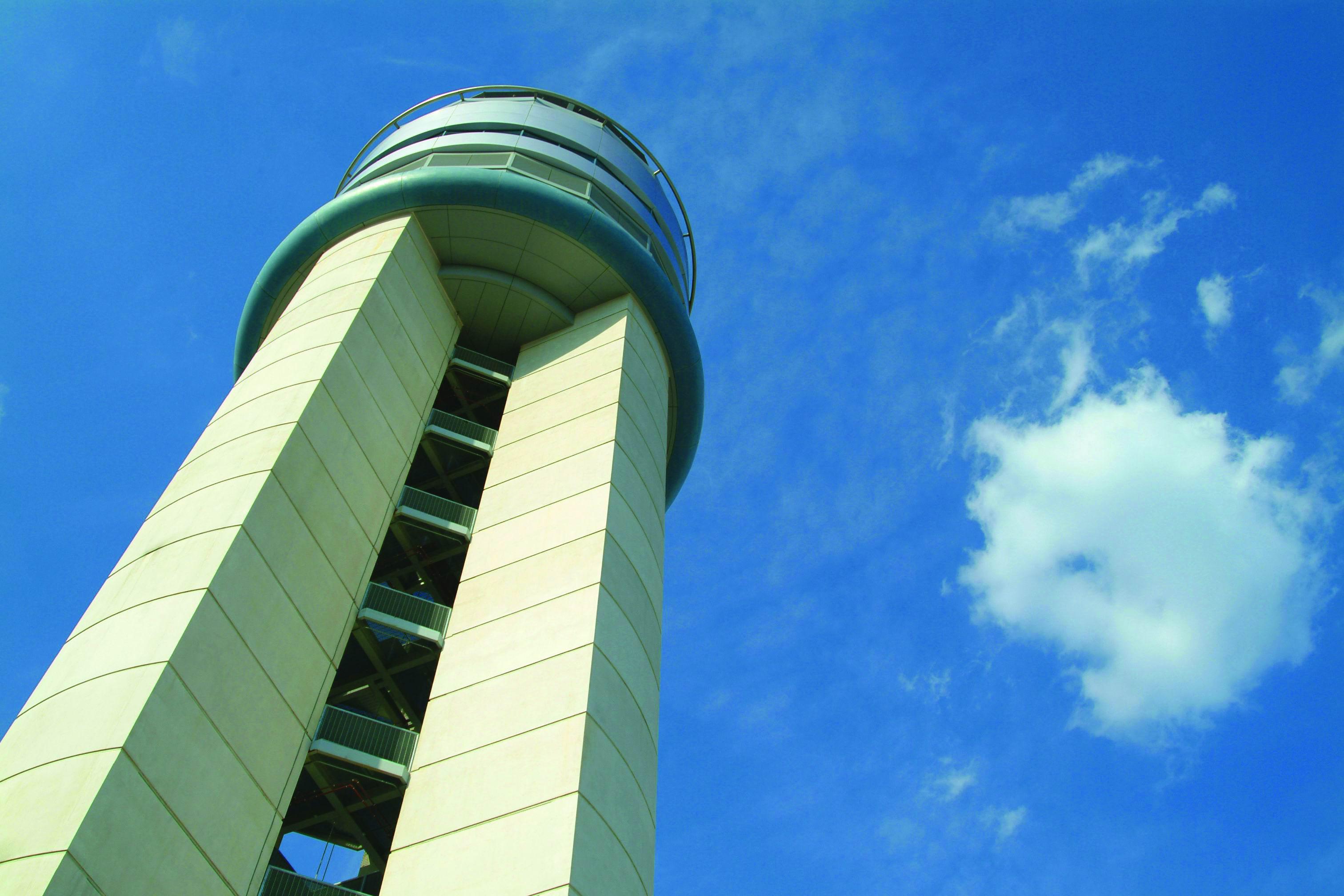 Control tower at Port Columbus International Airport