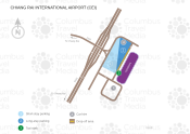 Chiang Rai International Airport (Mae Fah Luang) map