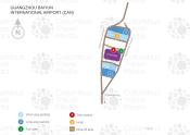 Guangzhou Baiyun International Airport map