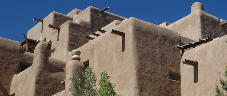 Adobe buildings, Sante Fe, New Mexico