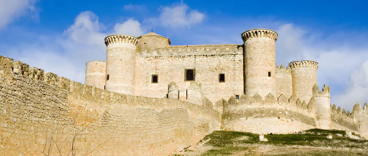 Belmonte Castle near La Mancha, Spain