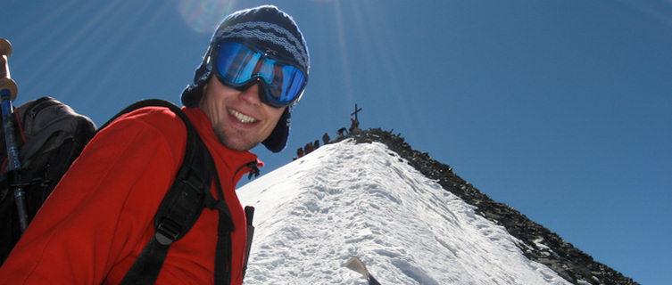 Climbing in Saas-Fee