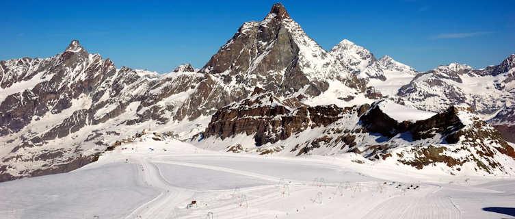 Downhill ski run, Cervinia