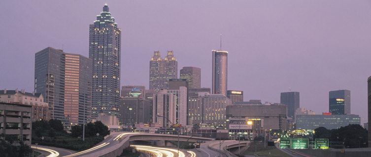 Downtown skyline at dawn, Atlanta, Georgia