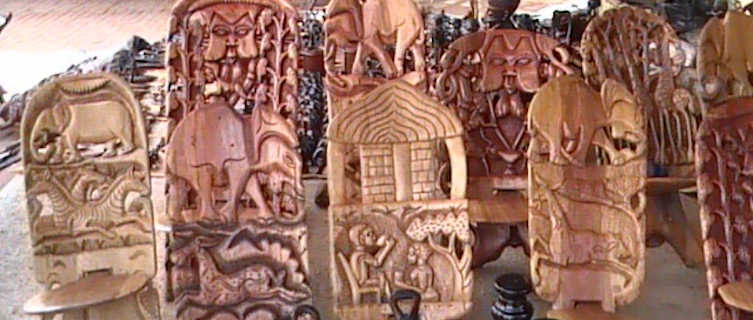 Handicrafts on sale in Malawi