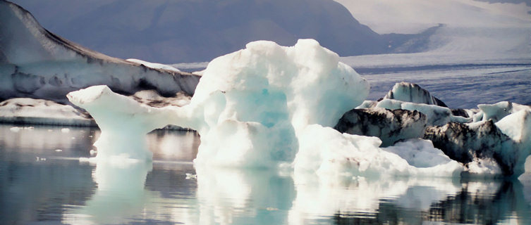 Icebergs in southern Iceland