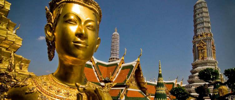 Kinnari statue at Wat Phra Kaew, Bangkok