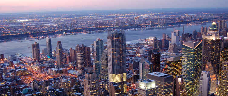 Midtown Manhattan and New Jersey from Empire State Building