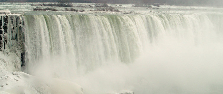 Ontario's Nigara Falls in winter