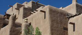 Adobe buildings, Sante Fe, New Mexico