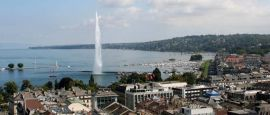 Jet d'eau on Lake Geneva