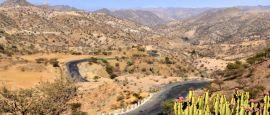 Landscape on the road from Asmara to Keren, Eritrea