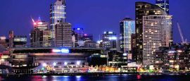 Melbourne at night, Victoria
