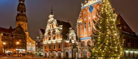 Riga at Christmas time, Latvia