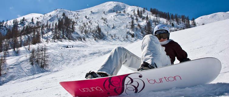 Snowboarder, Serre Chevalier