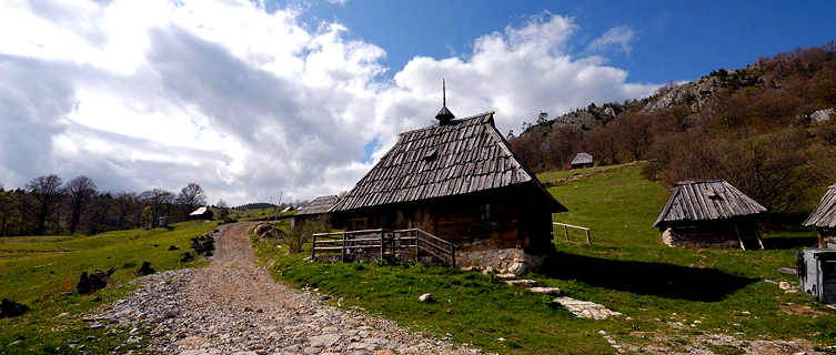 Traditional mountain village, Tara, Serbia