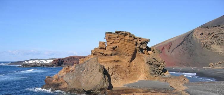 Volcanic Beach at El Golfo, Lanzarote
