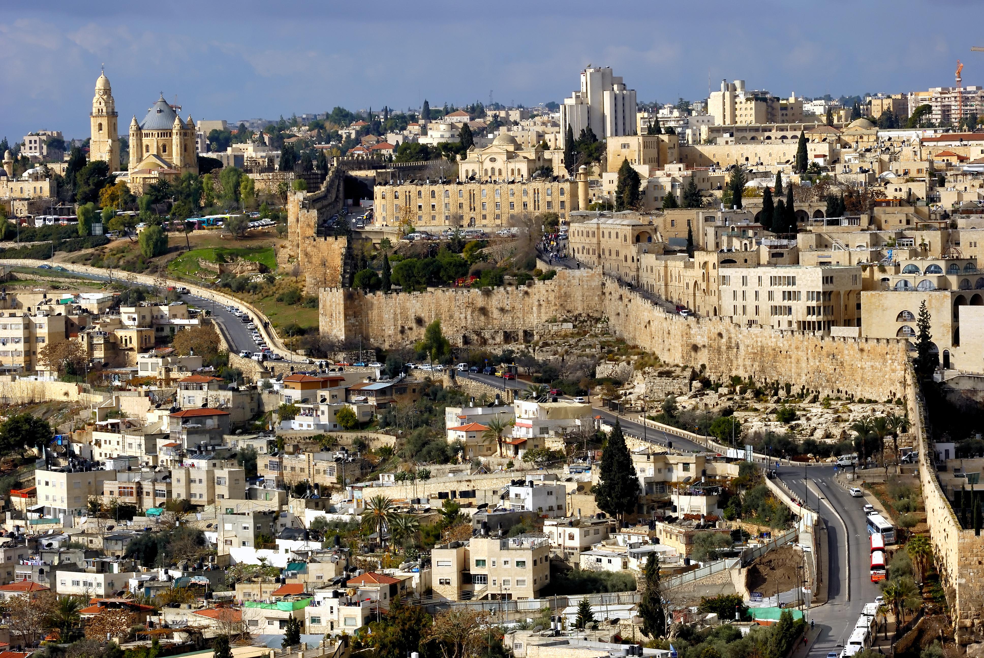 The holy city of Jerusalem, Palestine